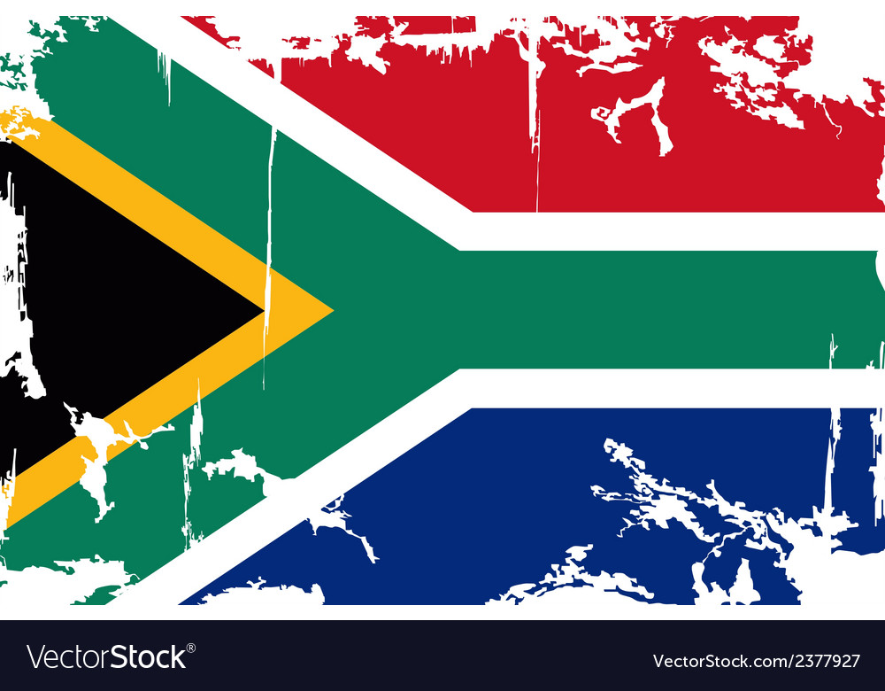 South africa grunge flag vector | Price: 1 Credit (USD $1)