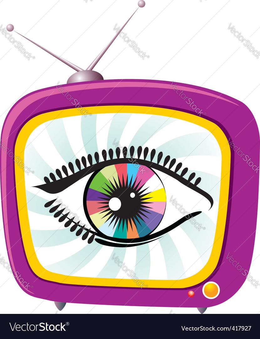 Tv screen eye vector   Price: 1 Credit (USD $1)