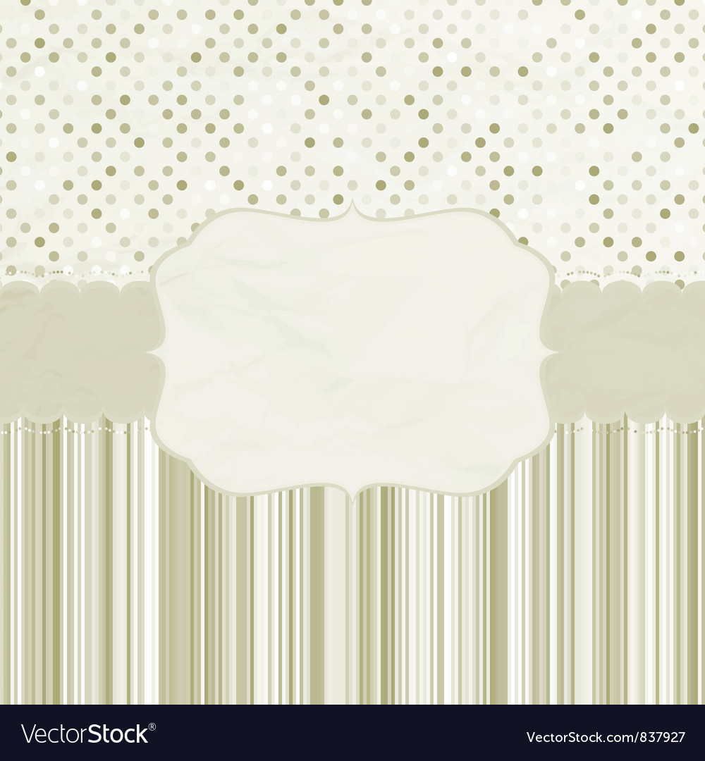 Vintage dots card vector | Price: 1 Credit (USD $1)