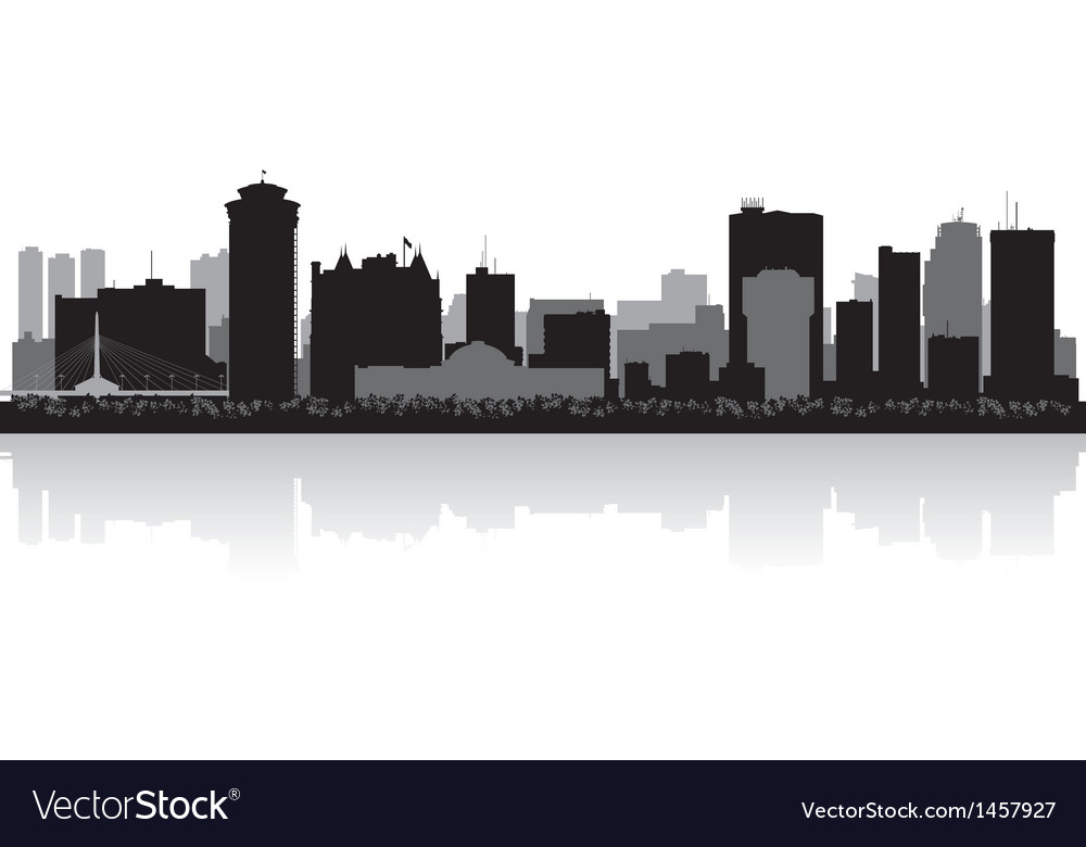 Winnipeg canada city skyline silhouette vector | Price: 1 Credit (USD $1)