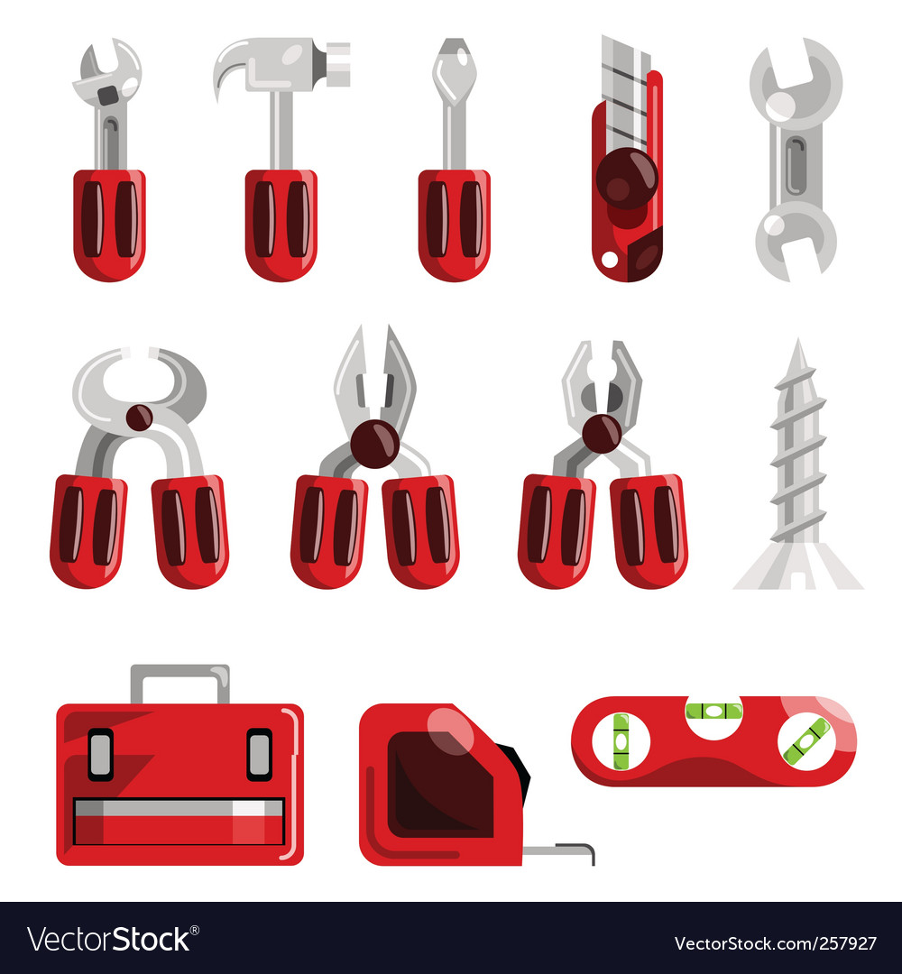 Work tools set vector | Price: 1 Credit (USD $1)
