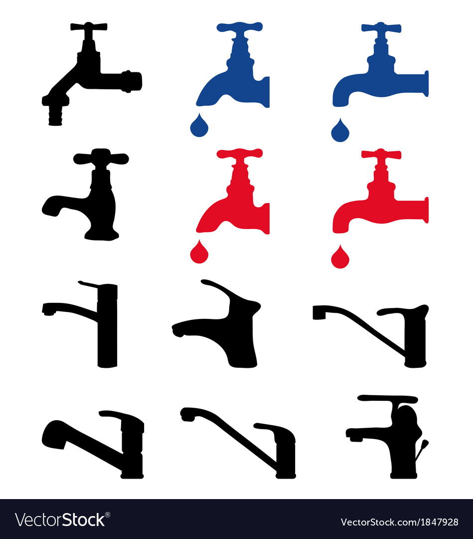 Faucets vector | Price: 1 Credit (USD $1)