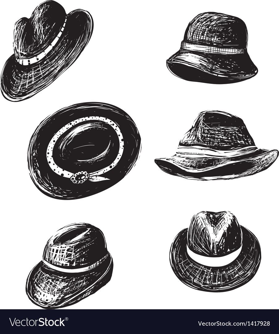 Hats collection vector