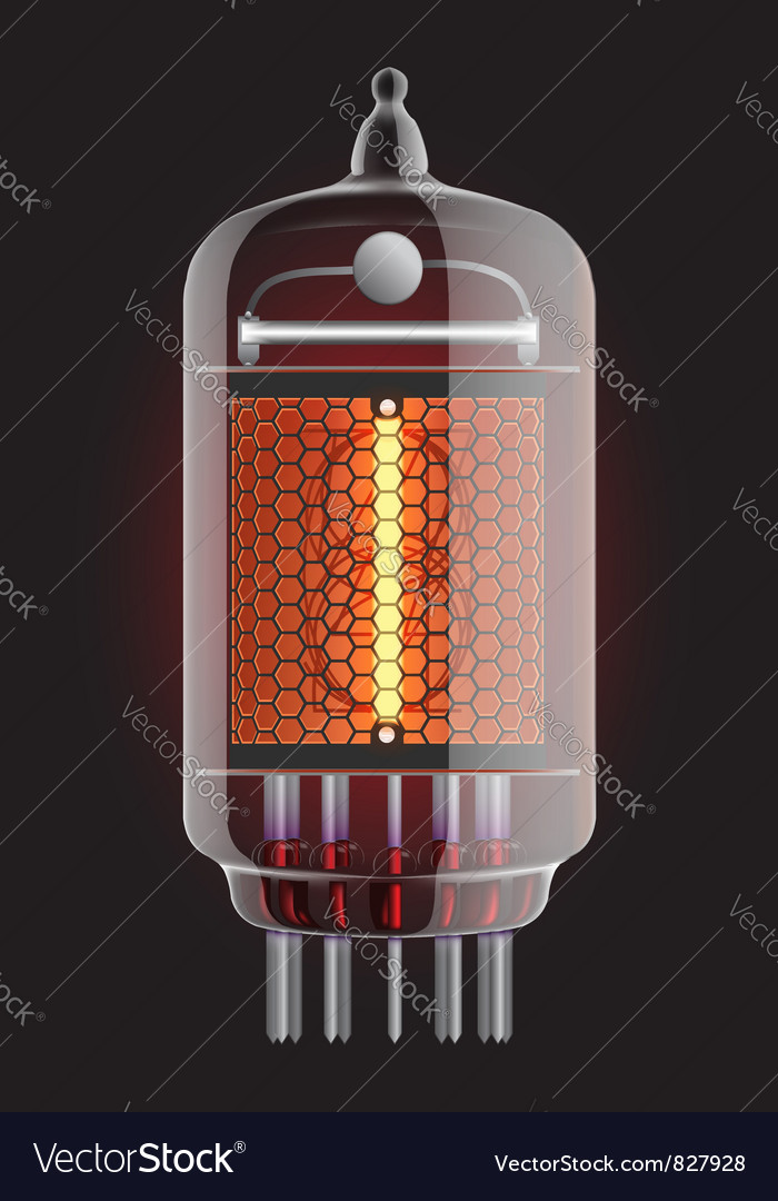 Nixie radio tube vector | Price: 1 Credit (USD $1)