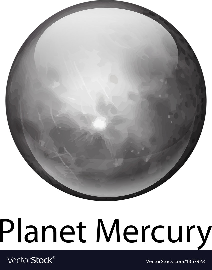 Planet mercury vector | Price: 1 Credit (USD $1)
