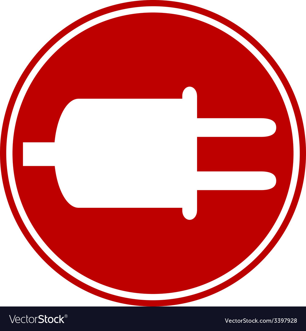 Power cord sign button vector | Price: 1 Credit (USD $1)