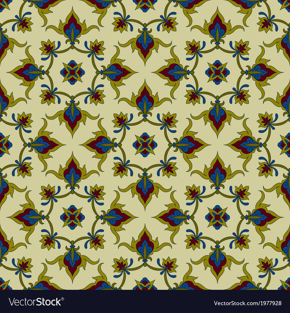 Seamless pattern in eastern style vector | Price: 1 Credit (USD $1)
