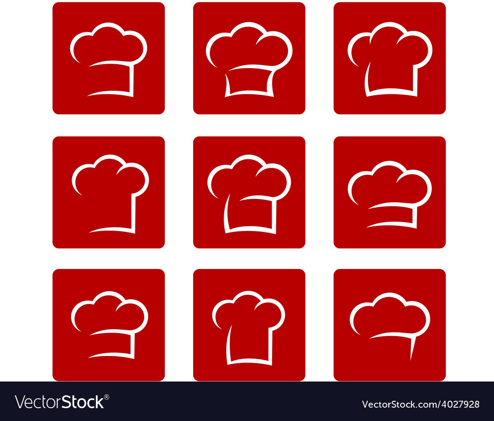 Set of abstract chef hat vector | Price: 1 Credit (USD $1)