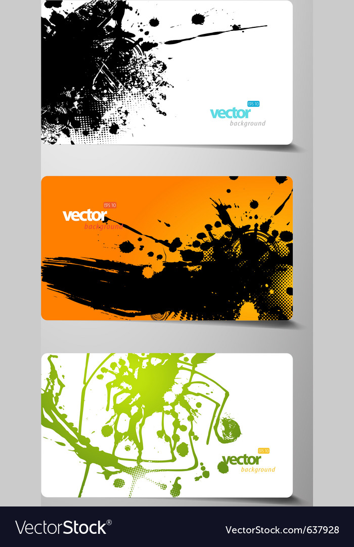 Set of gift cards with splash vector | Price: 1 Credit (USD $1)
