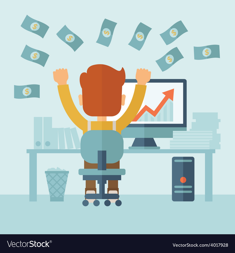 Successful businessman with a lot of money vector | Price: 1 Credit (USD $1)