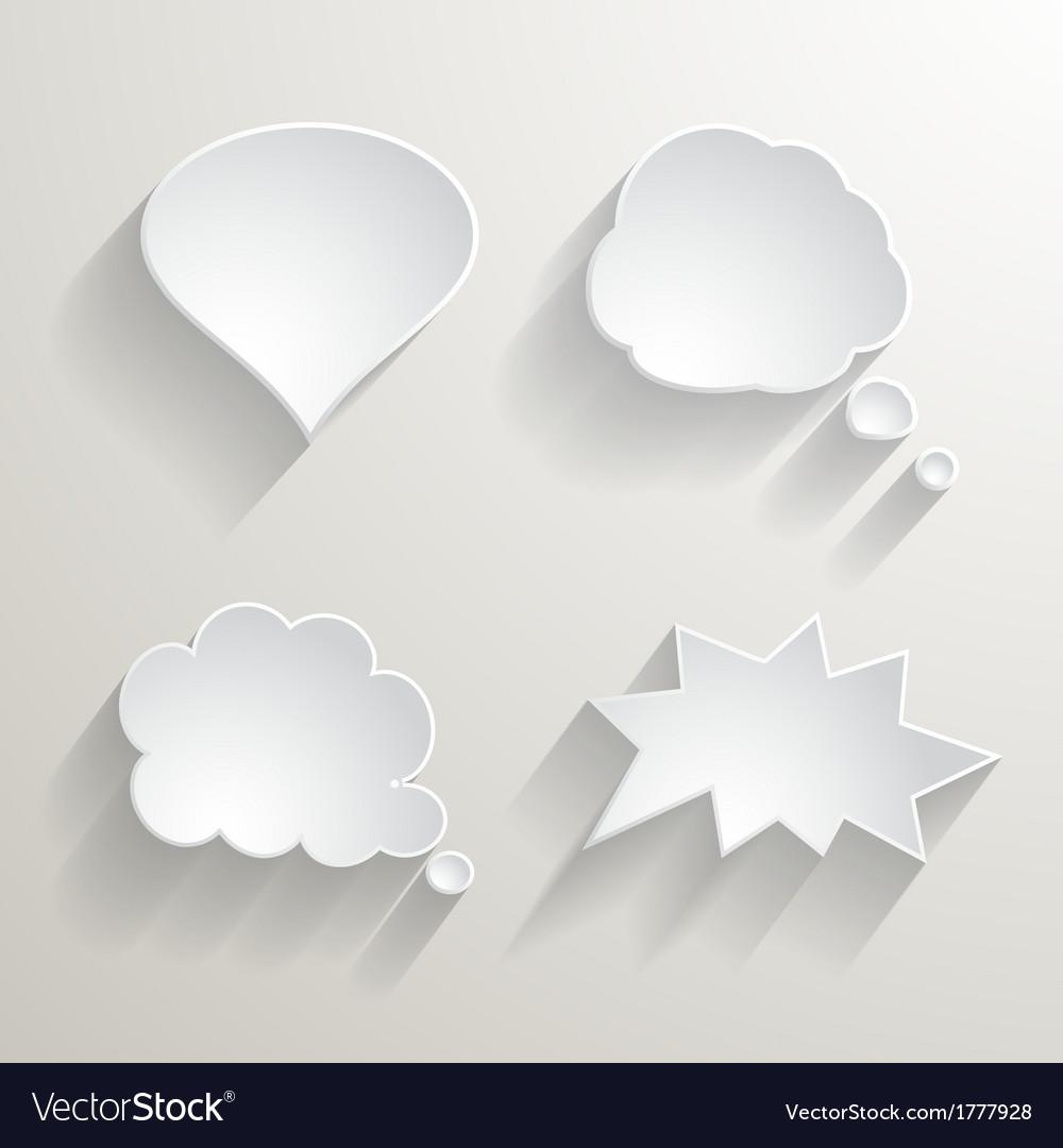 White paper speech bubbles vector | Price: 1 Credit (USD $1)