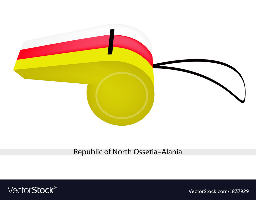 A whistle of republic of north ossetia alania vector | Price: 1 Credit (USD $1)