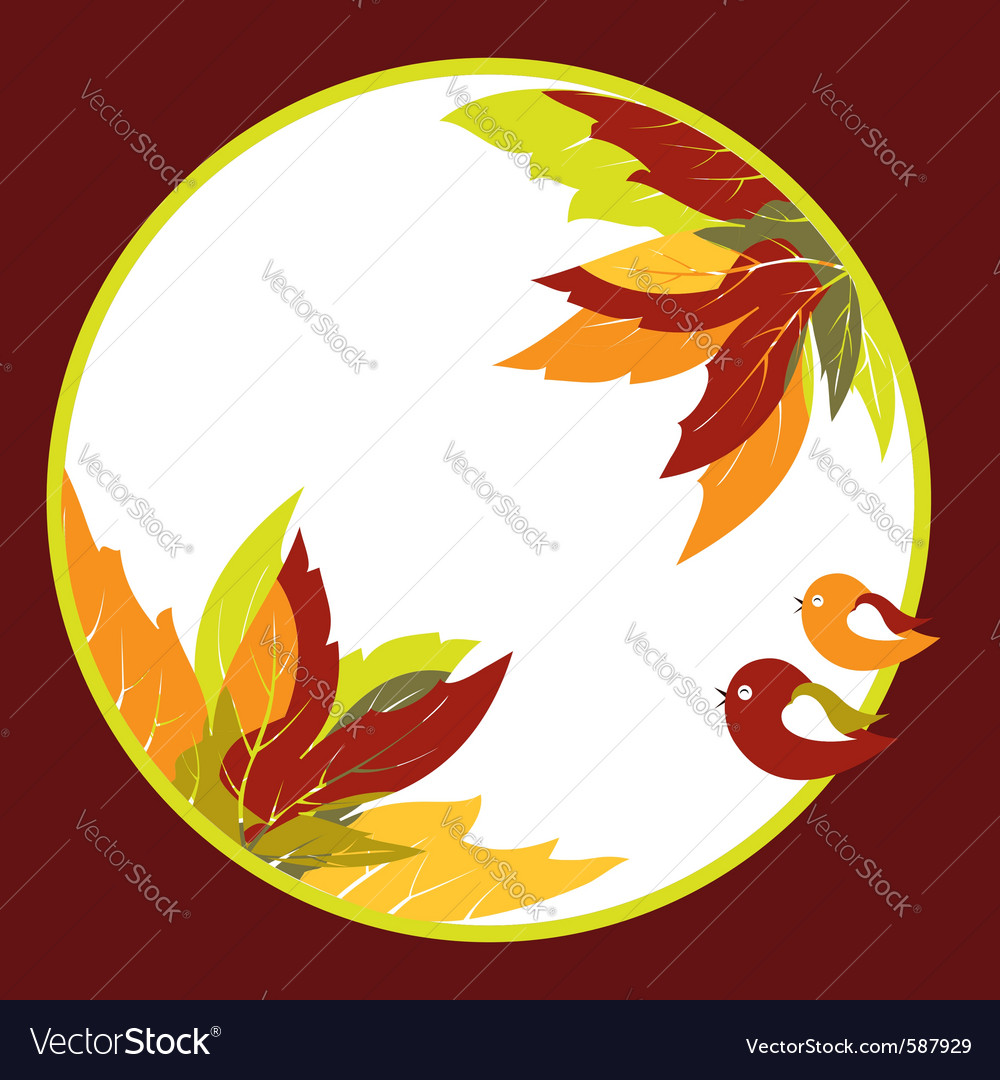 Abstract autumn leaves vector | Price:  Credit (USD $)