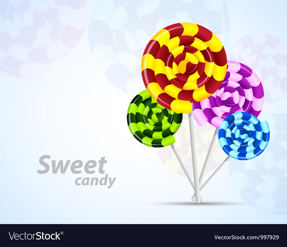Background with candies vector | Price: 1 Credit (USD $1)