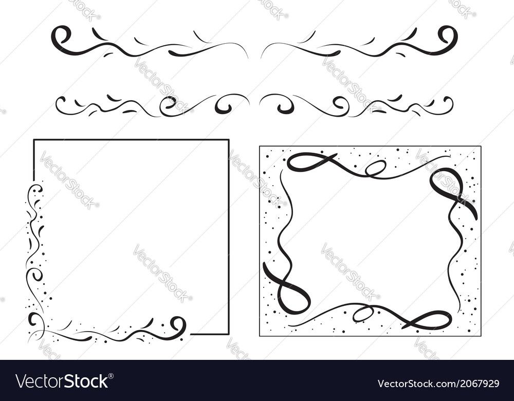 Black wavy design elements - set vector | Price: 1 Credit (USD $1)