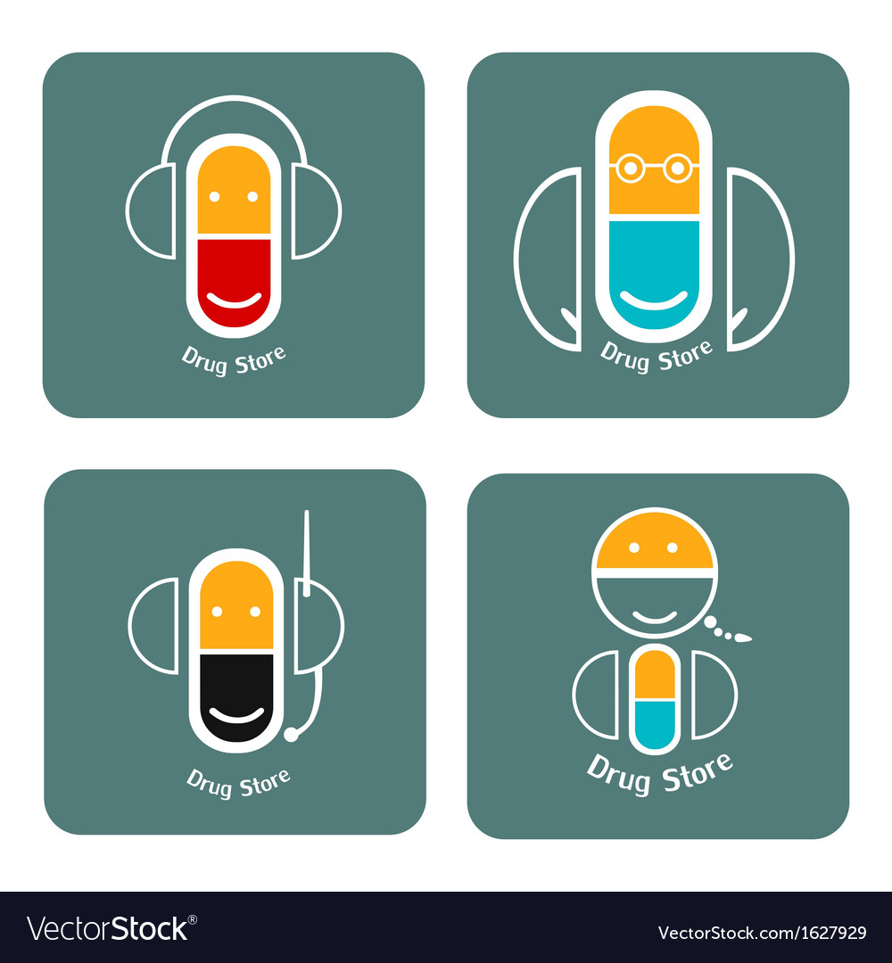 Drug store icon collection vector | Price: 1 Credit (USD $1)