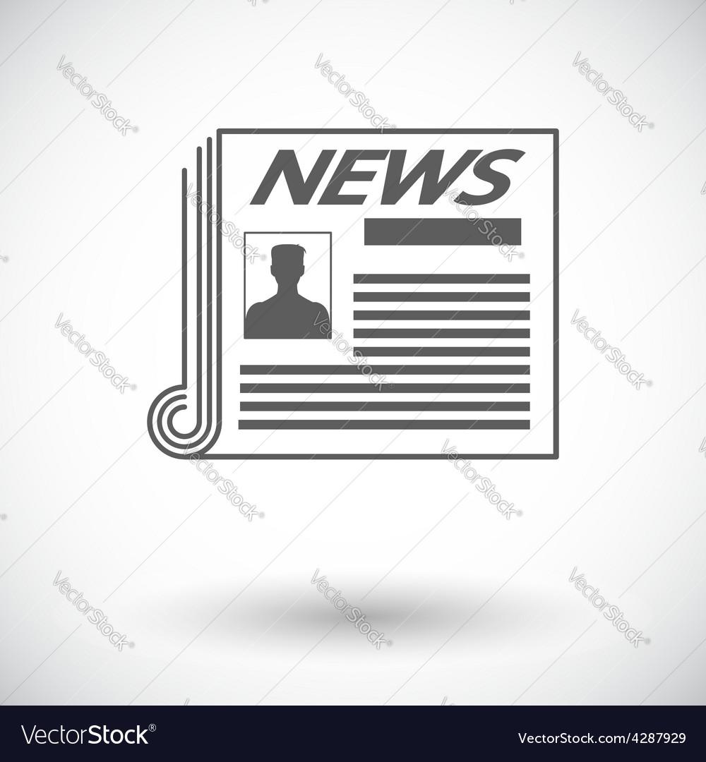 Newspaper icon vector   Price: 1 Credit (USD $1)