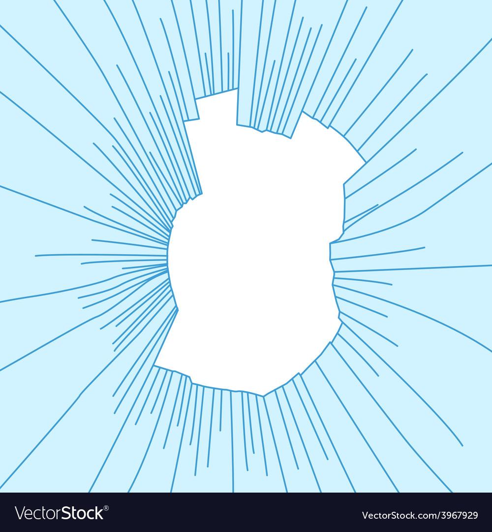 Radial cracks on broken blue glass vector   Price: 1 Credit (USD $1)