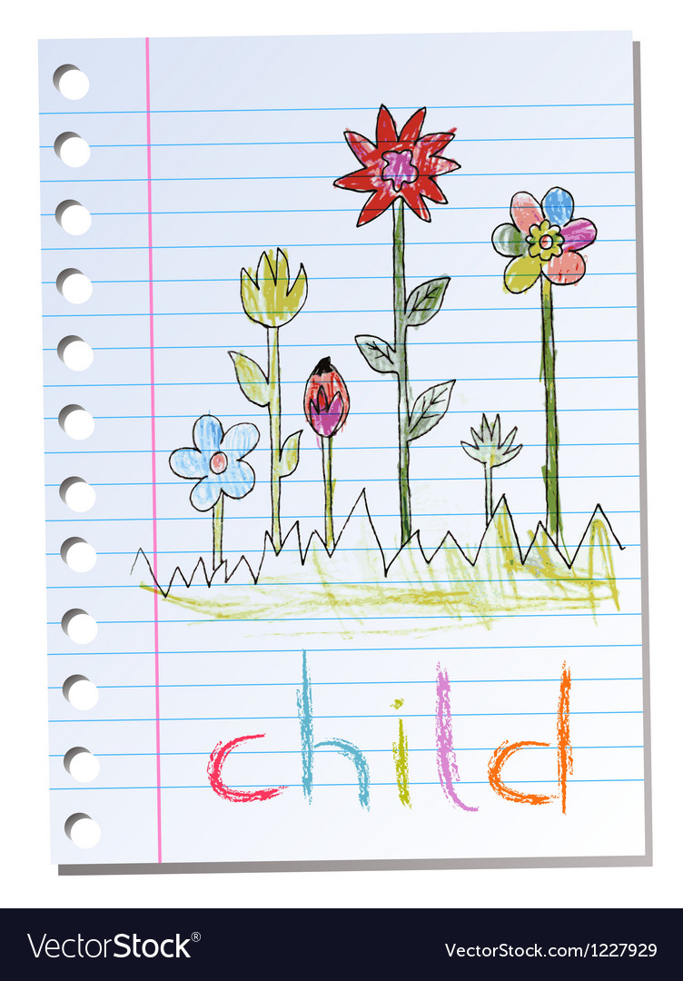 Sheet of paper with child vector | Price: 1 Credit (USD $1)