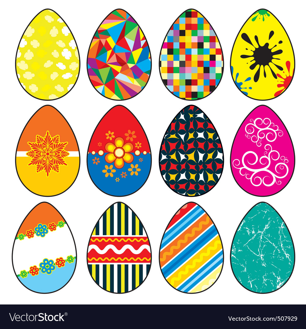 Stylized easter eggs vector | Price: 1 Credit (USD $1)
