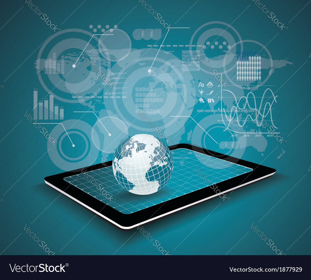 Touch pad personal computer technology business vector | Price: 1 Credit (USD $1)