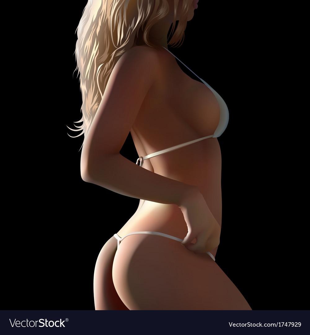 Woman body in bikini vector | Price: 3 Credit (USD $3)