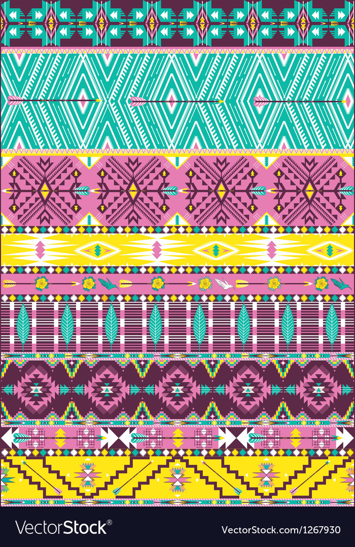 Aztec geometric seamless pattern vector