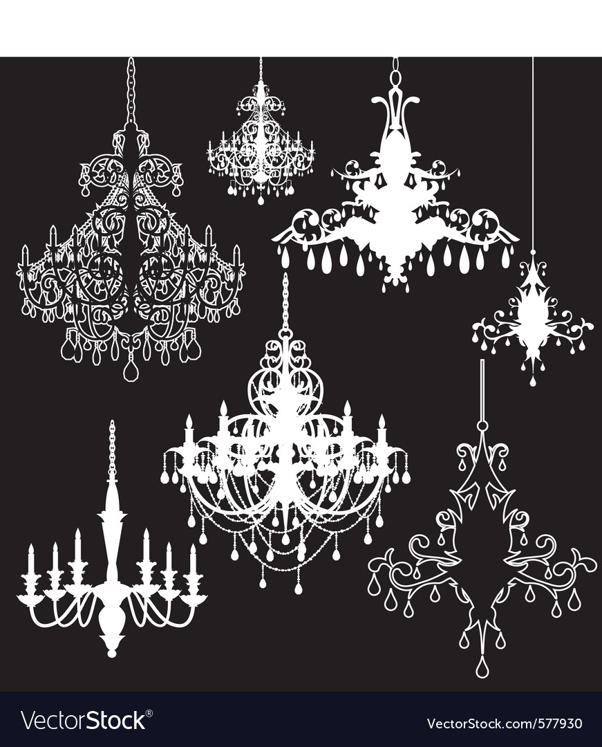 Chandeliers vector | Price: 1 Credit (USD $1)