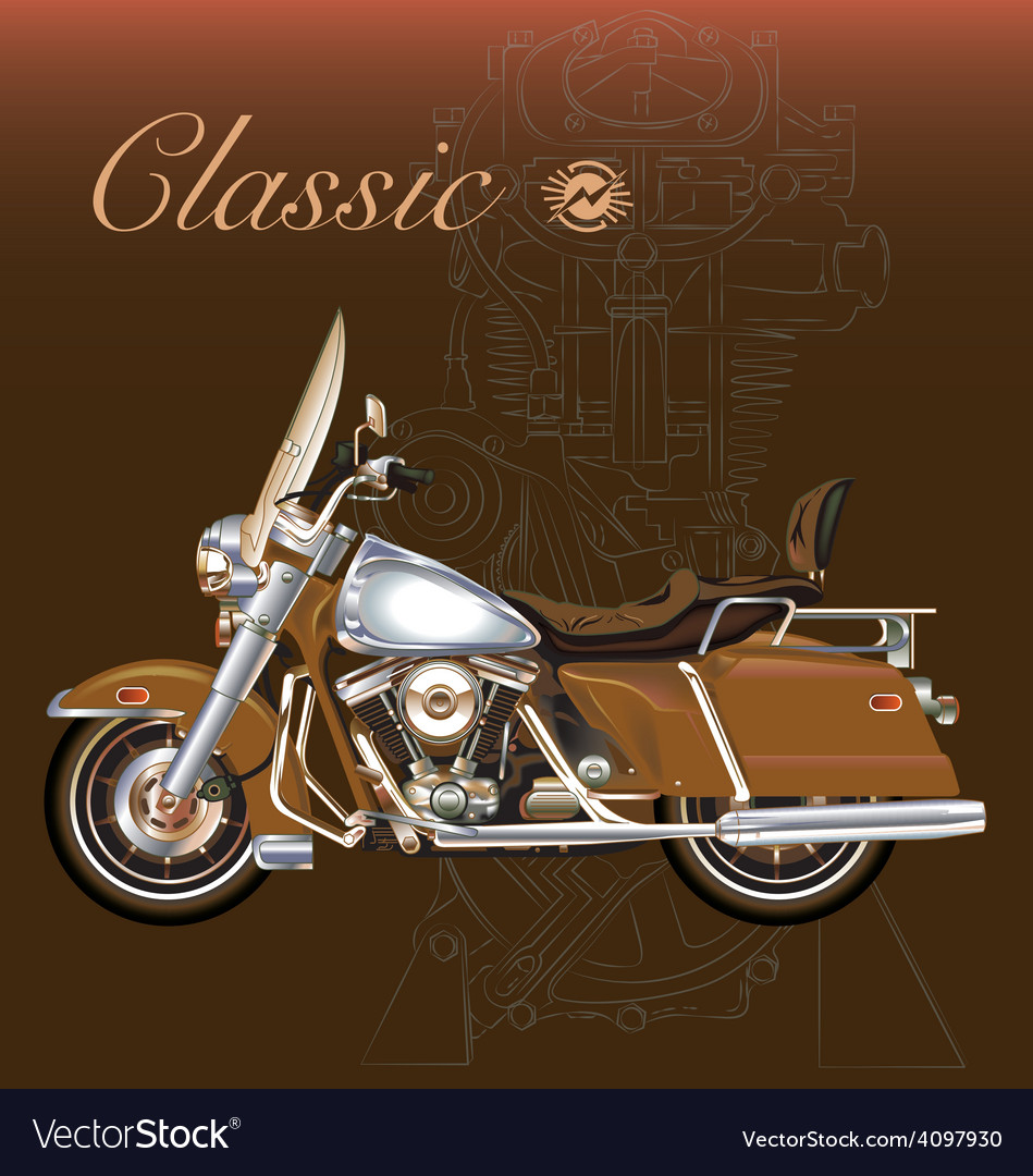 Classic motorcycle vector   Price: 1 Credit (USD $1)