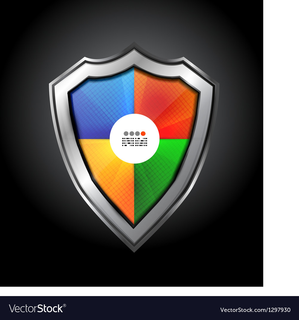Colorful protection shield vector | Price: 3 Credit (USD $3)