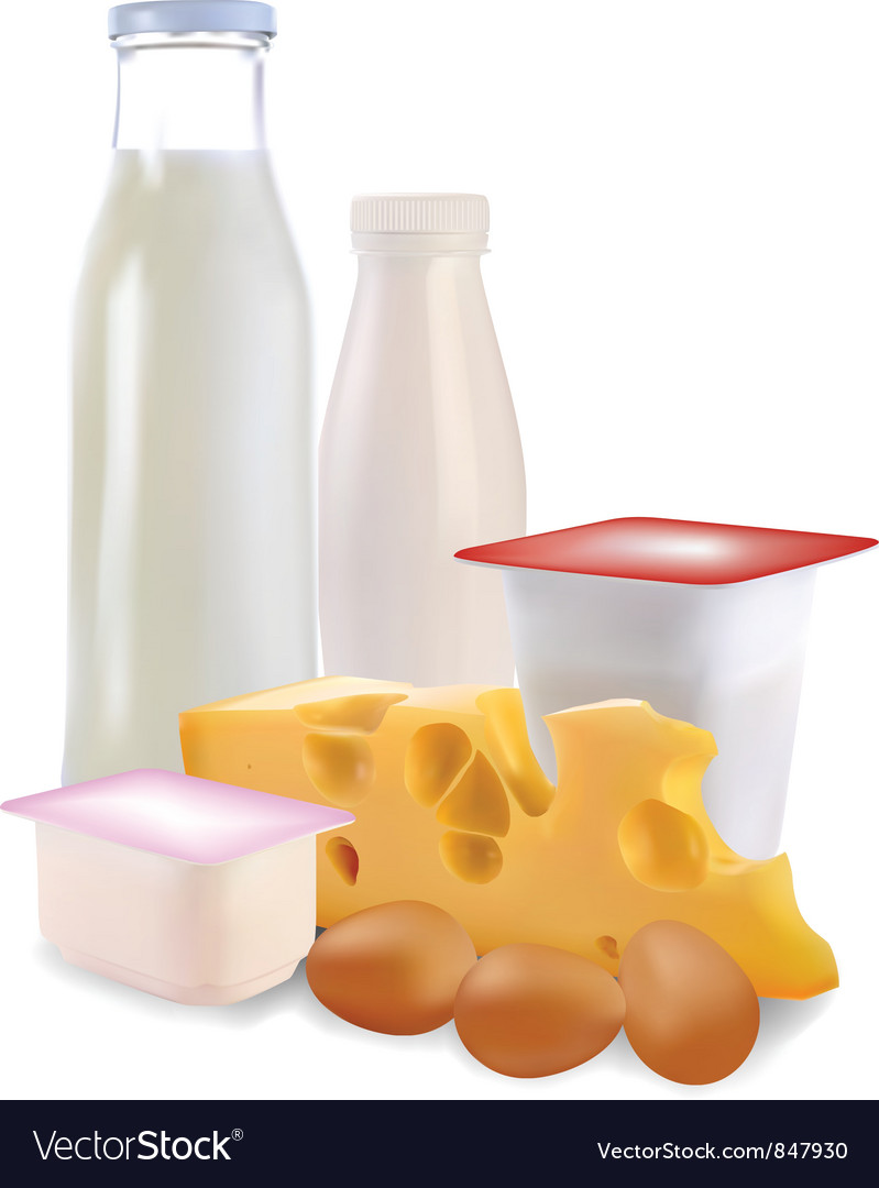 Dairy products vector | Price: 1 Credit (USD $1)