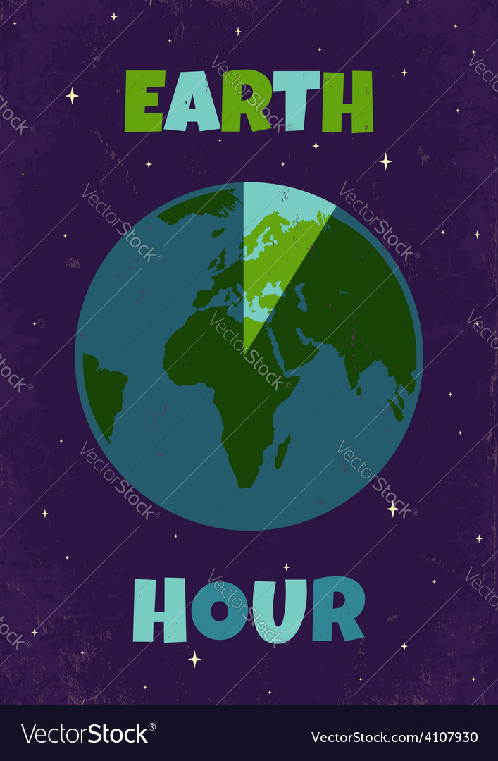 Earht hour vector | Price: 1 Credit (USD $1)