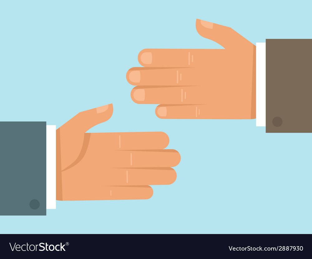 Handshake concept in flat style vector | Price: 1 Credit (USD $1)