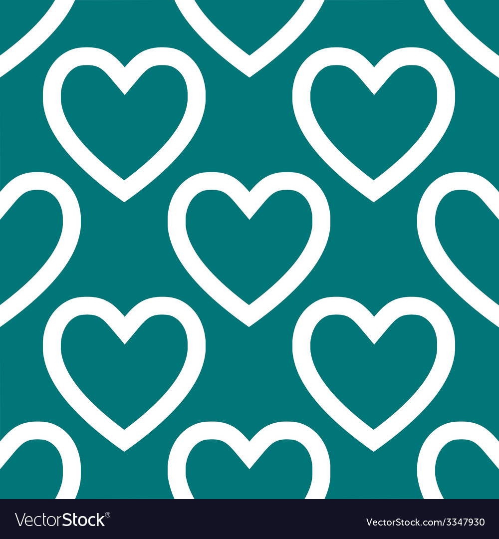 Heart web icon flat design seamless pattern vector | Price: 1 Credit (USD $1)