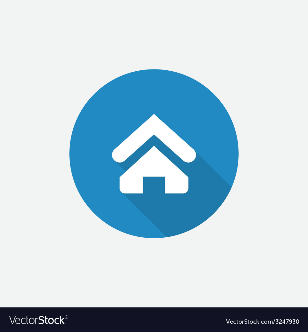 Home flat blue simple icon with long shadow vector | Price: 1 Credit (USD $1)