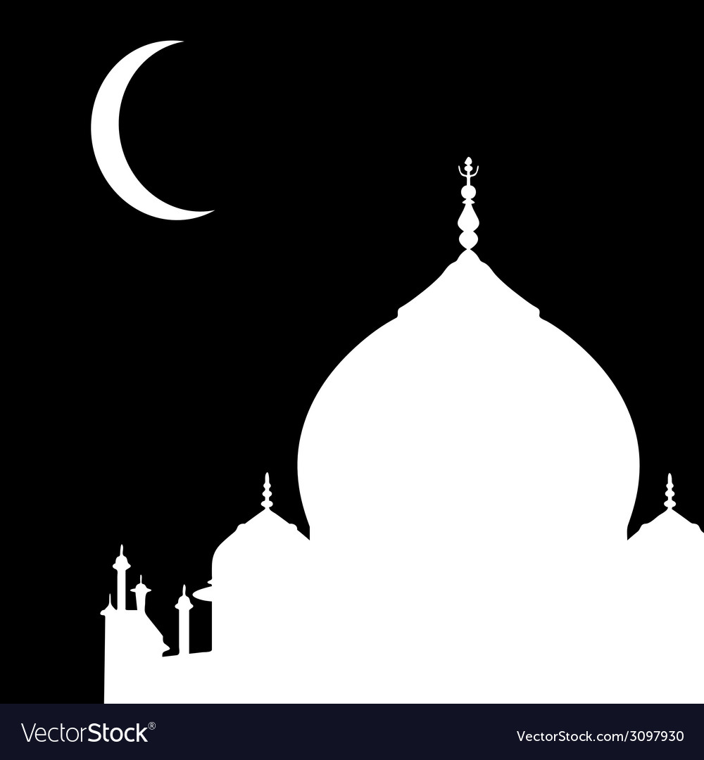 Mosque silhouette vector | Price: 1 Credit (USD $1)