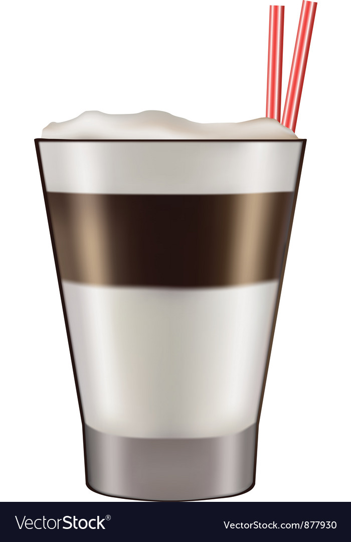 Mug of layered caffe latte vector | Price: 1 Credit (USD $1)