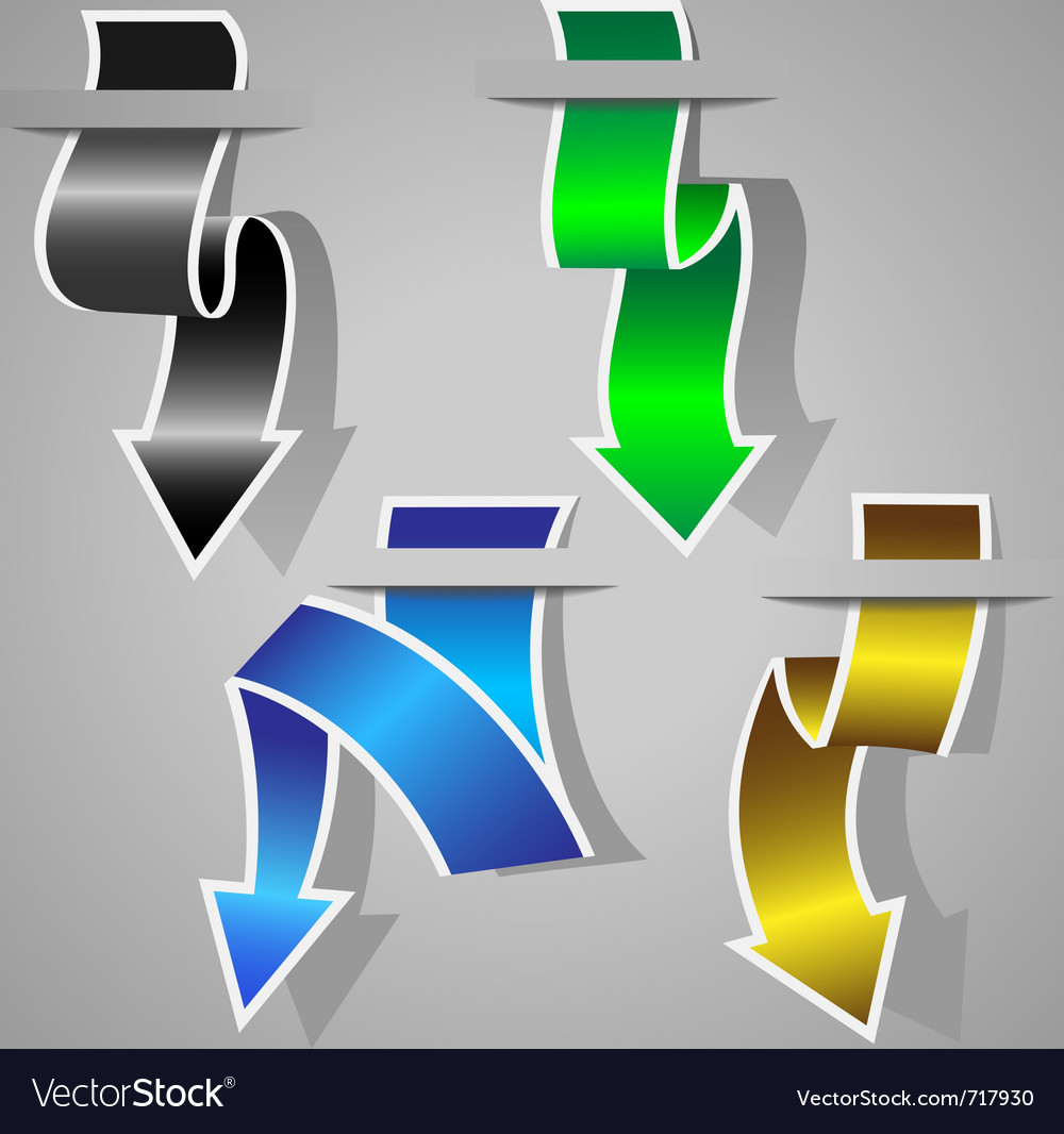 Original arrow stickers set vector | Price: 1 Credit (USD $1)