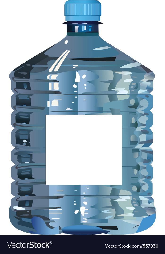 Plastic bottle of water vector | Price: 1 Credit (USD $1)