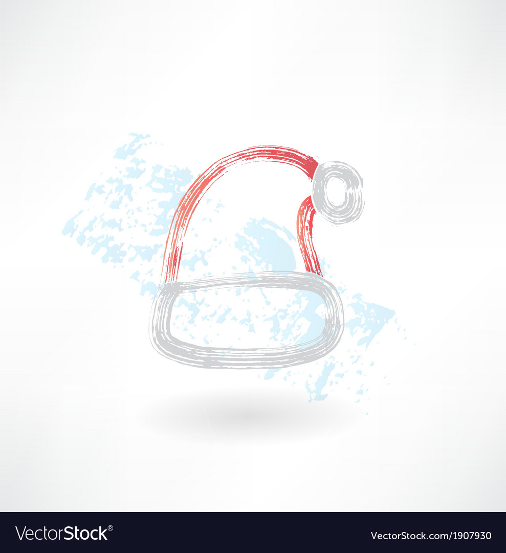 Santa hats grunge icon vector | Price: 1 Credit (USD $1)