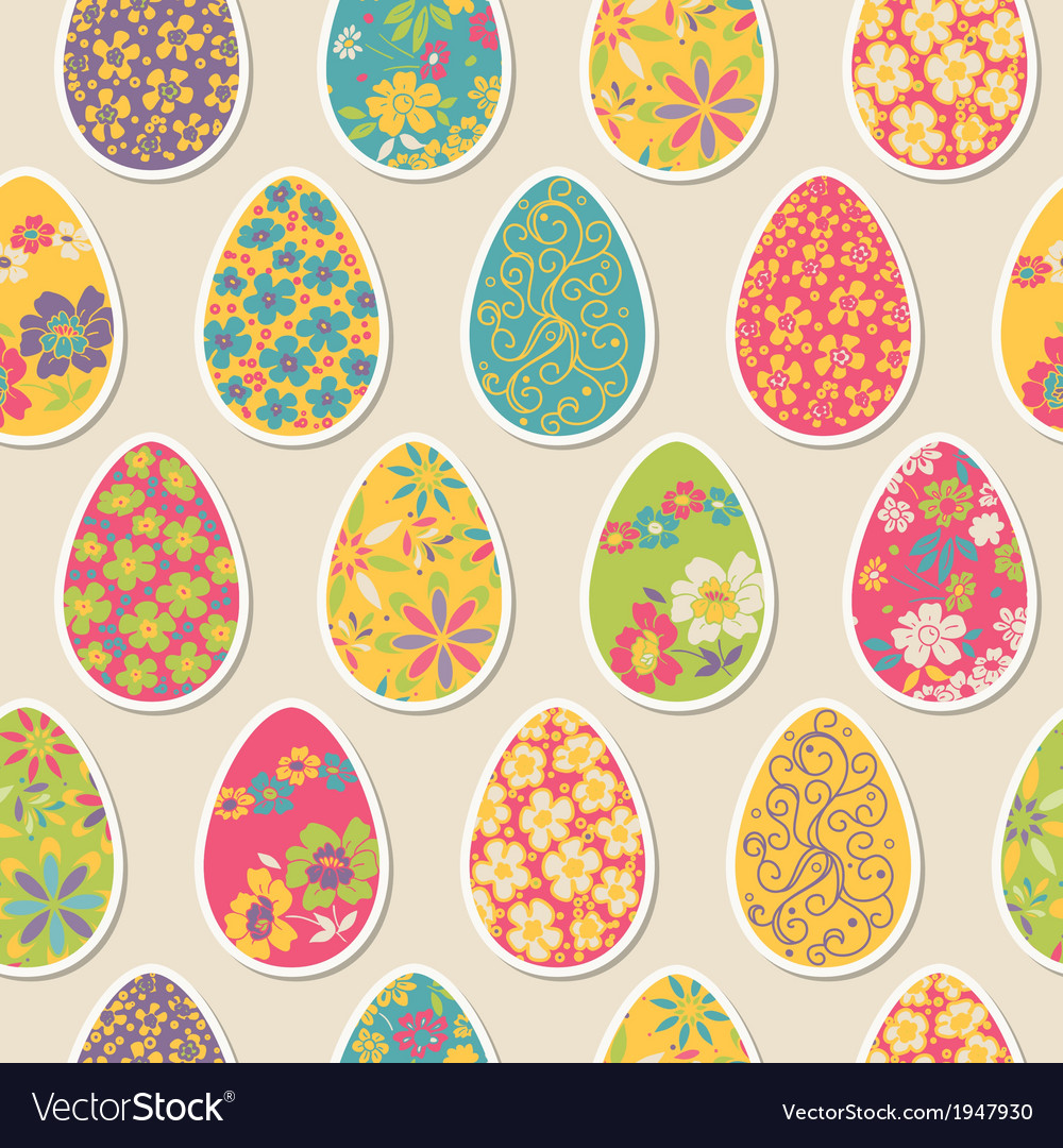Seamless pattern with easter eggs vector | Price: 1 Credit (USD $1)