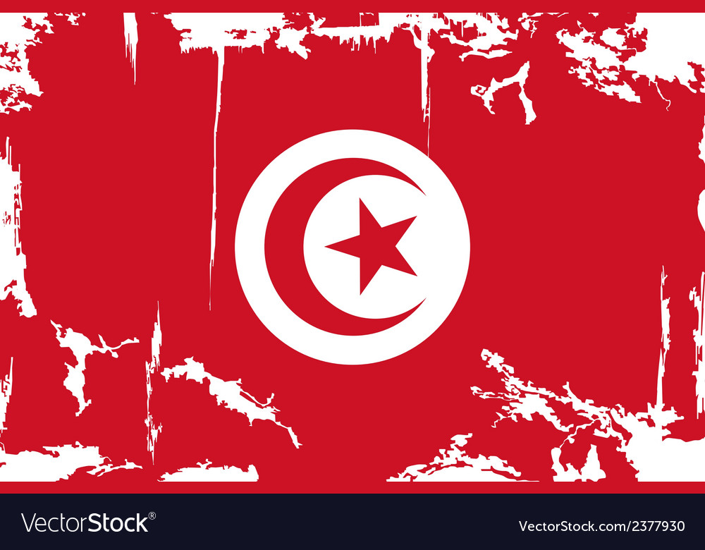Tunisian grunge flag vector | Price: 1 Credit (USD $1)