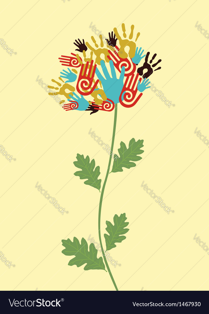 Unity flower concept vector | Price: 1 Credit (USD $1)