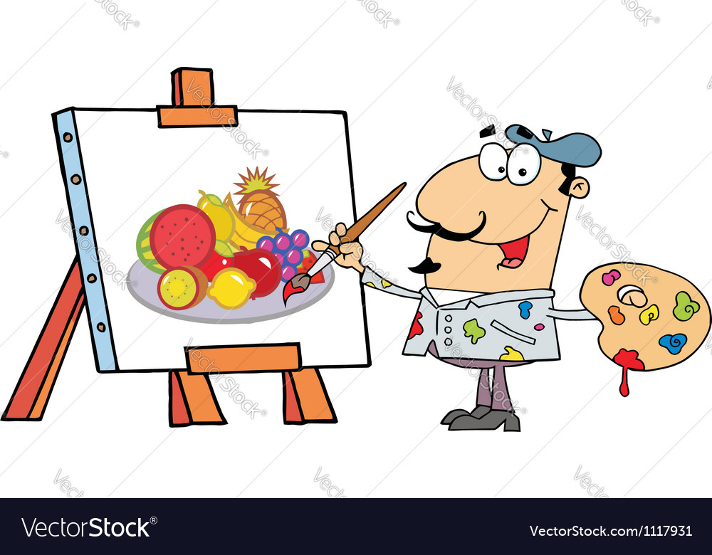Artist painter vector   Price: 1 Credit (USD $1)