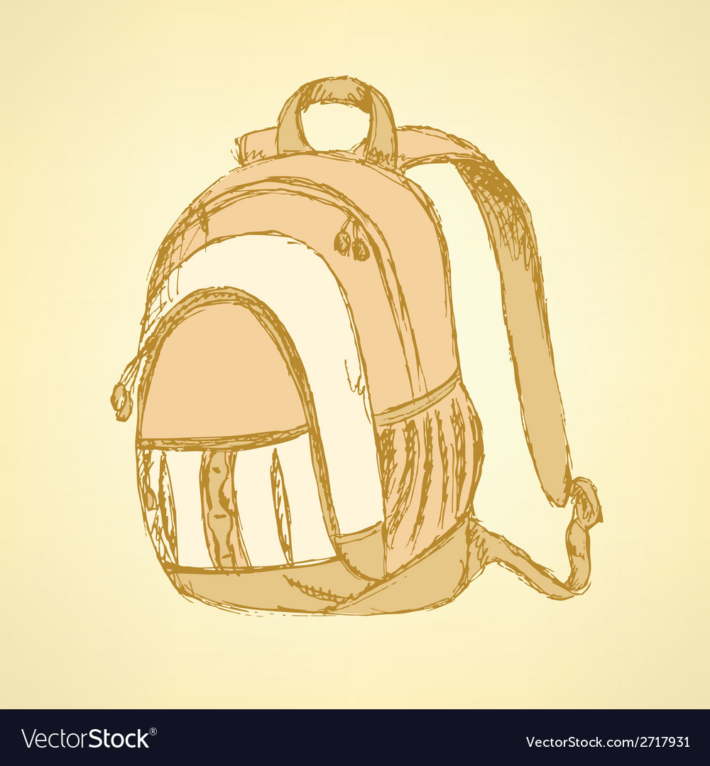Backpack vector | Price: 1 Credit (USD $1)