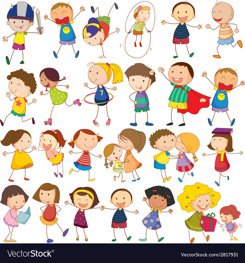 Children actions vector | Price: 1 Credit (USD $1)