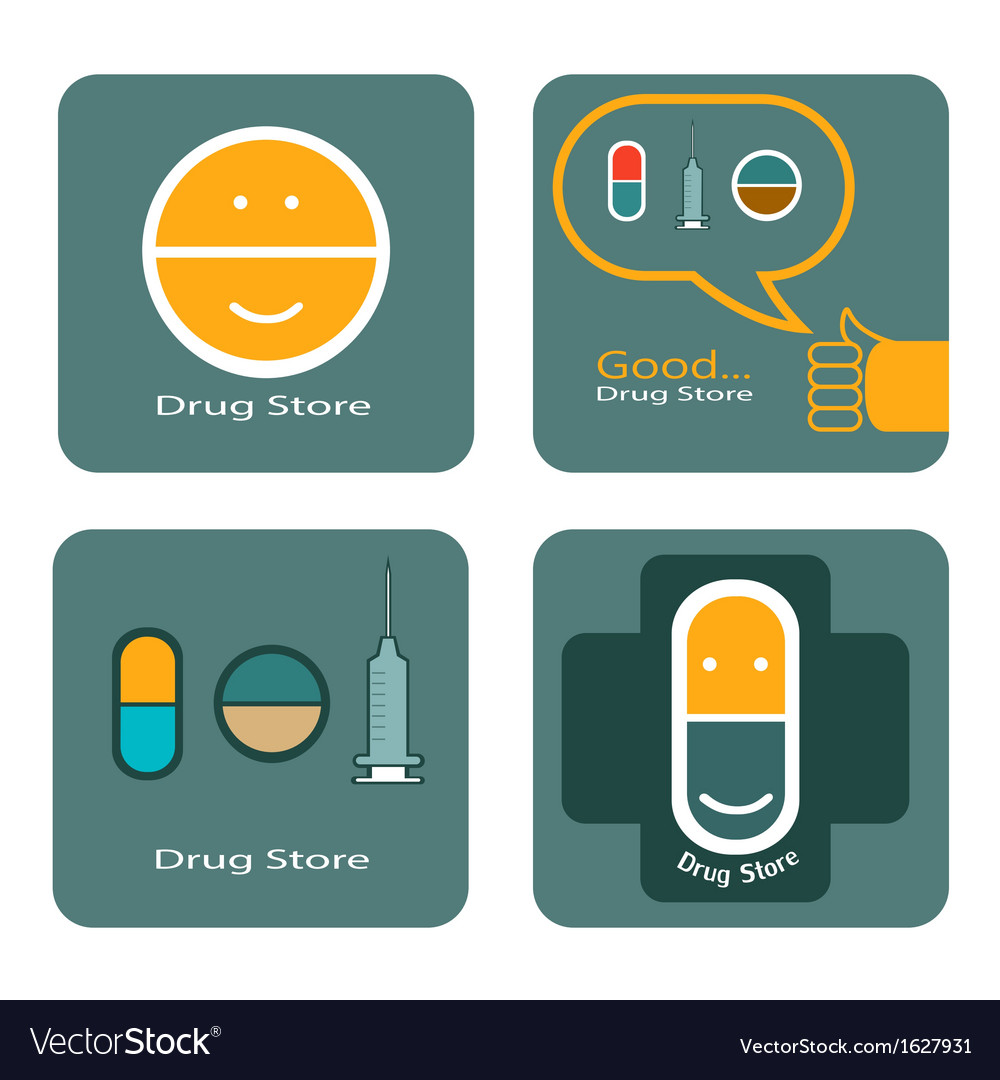 Drug store icon design vector | Price: 1 Credit (USD $1)
