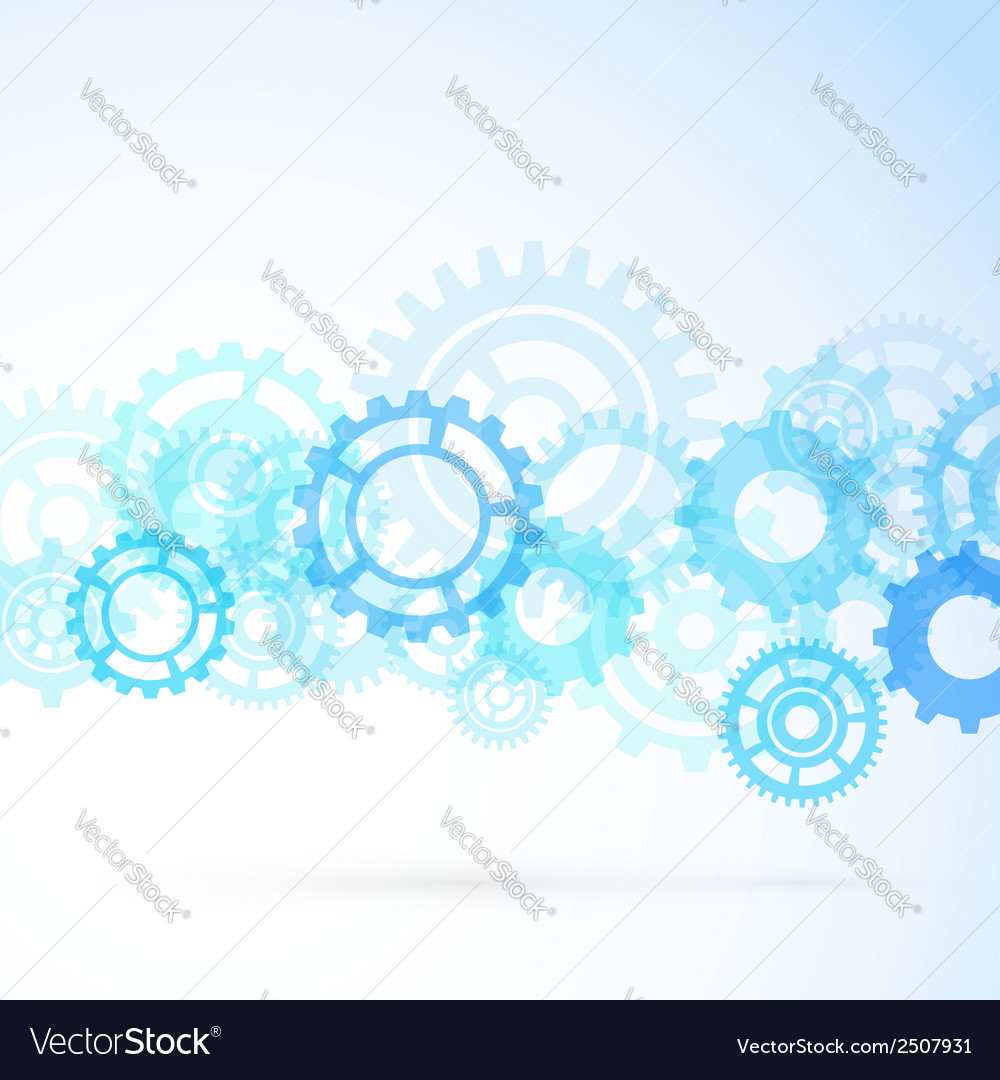 Gear contemporary mechanical background vector | Price: 1 Credit (USD $1)