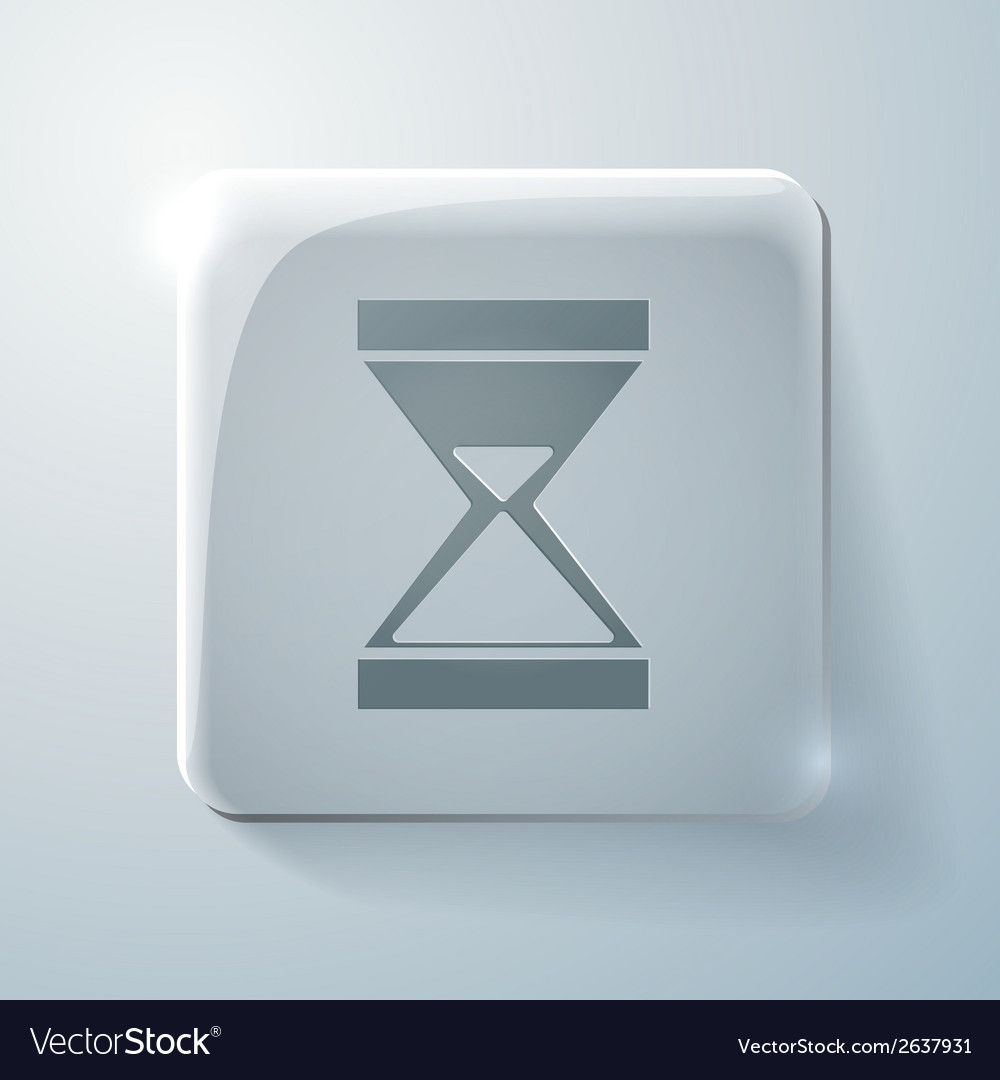 Glass square icon hourglass waiting vector | Price: 1 Credit (USD $1)