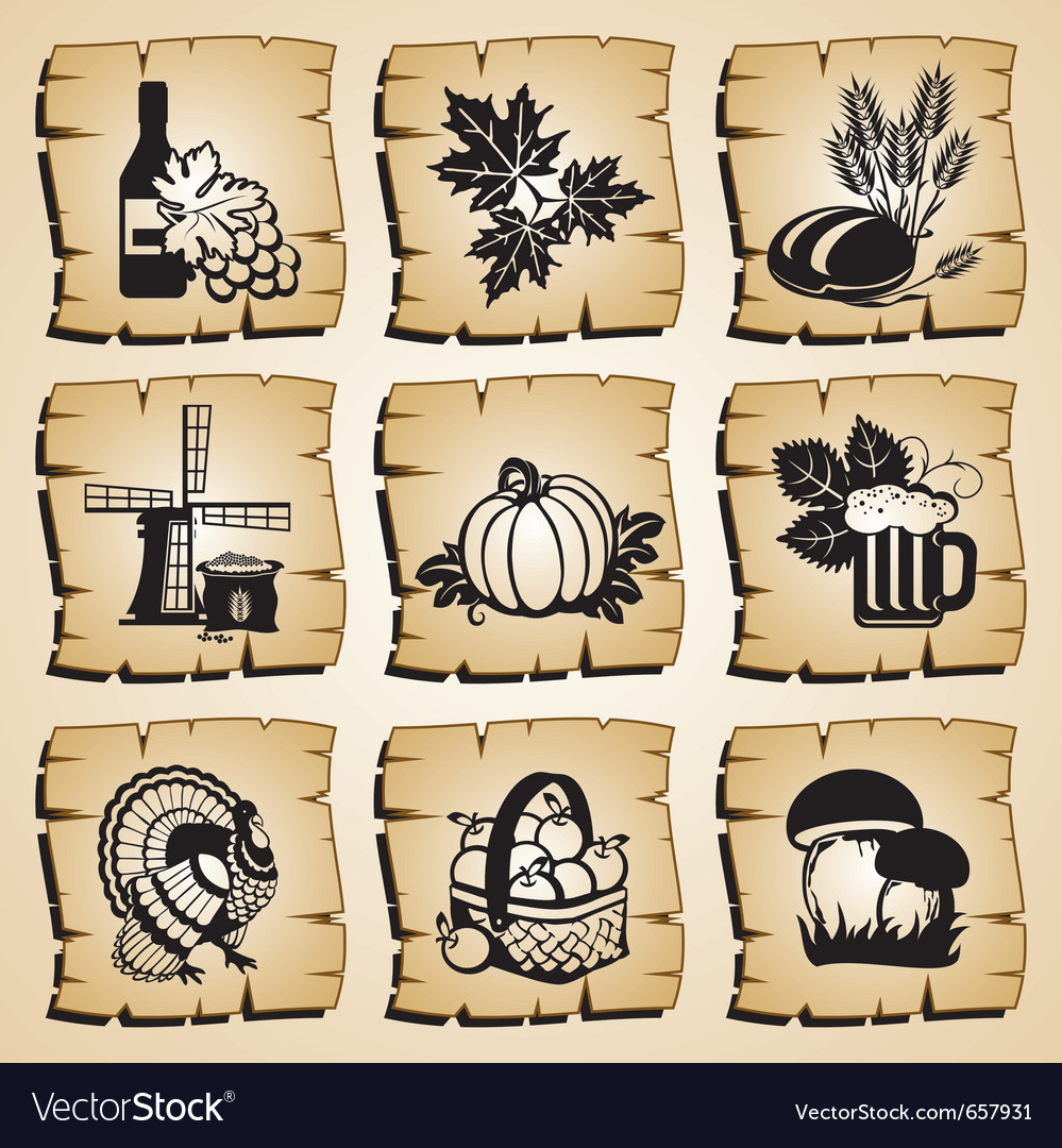 Icons autumn vector | Price: 1 Credit (USD $1)